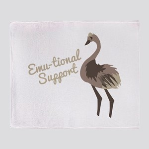 Emu-tional Support Throw Blanket