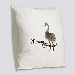Moving Forward Burlap Throw Pillow