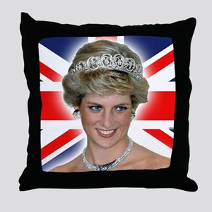 HRH Princess Diana Professional Photo Throw Pillow