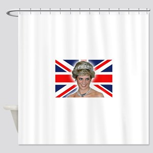 HRH Princess Diana Professional Photo Shower Curta