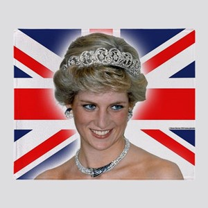 HRH Princess Diana Professional Photo Throw Blanke