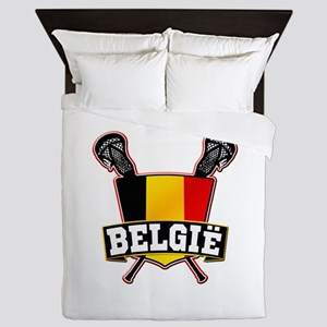 Belgium Lacrosse Shield Logo Queen Duvet