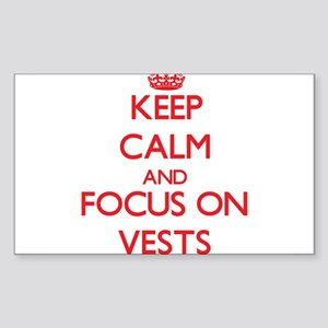 Keep Calm and focus on Vests Sticker