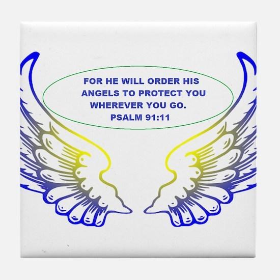 Angel Wings Tile Coaster