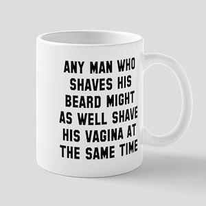 Any man shaves beard Mug