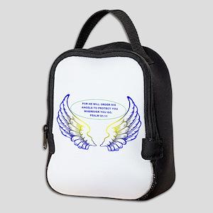 Angel Wings Neoprene Lunch Bag