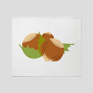 Hazelnuts Throw Blanket