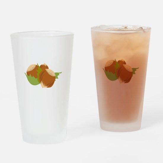 Hazelnuts Drinking Glass