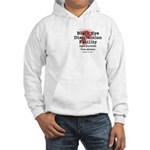 Black Eye Distribution - boxers hooded sweatshirt