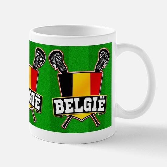 Belgium Lacrosse Shield Logo Mugs