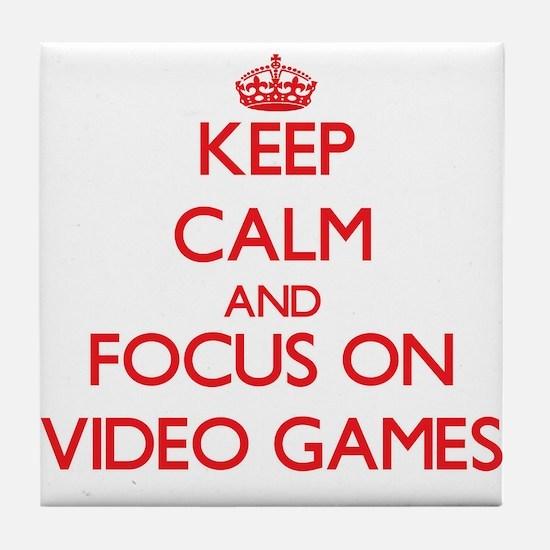 Cool Keep calm video Tile Coaster