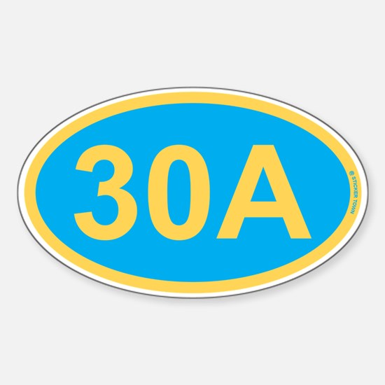 30A Florida Emerald Coast Sticker (Oval)