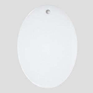 Illustration Celebrating April Fools Oval Ornament