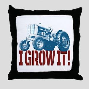 I Grow It Patriotic Throw Pillow