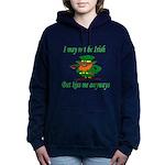 Kiss Me Women's Hooded Sweatshirt