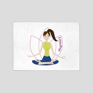 Lotus Pose 5'x7'Area Rug
