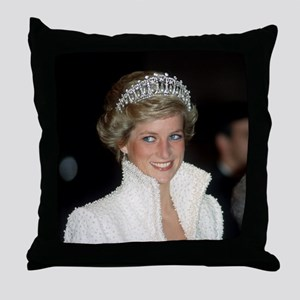 Iconic! HRH Princess Diana Throw Pillow