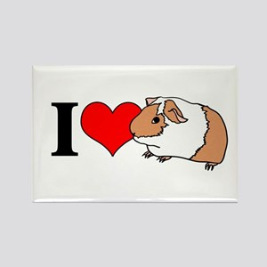 I (Heart) Guinea Pigs! Rectangle Magnet