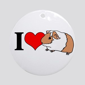 I (Heart) Guinea Pigs! Ornament (Round)