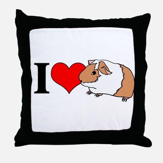 I (Heart) Guinea Pigs! Throw Pillow