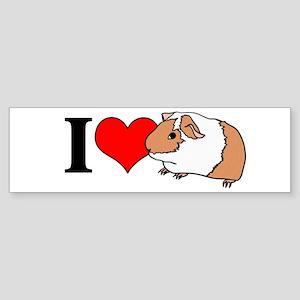 I (Heart) Guinea Pigs! Bumper Sticker