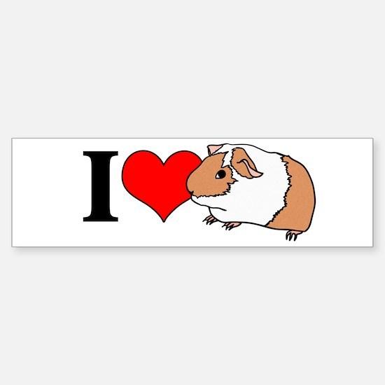I (Heart) Guinea Pigs! Bumper Bumper Bumper Sticker