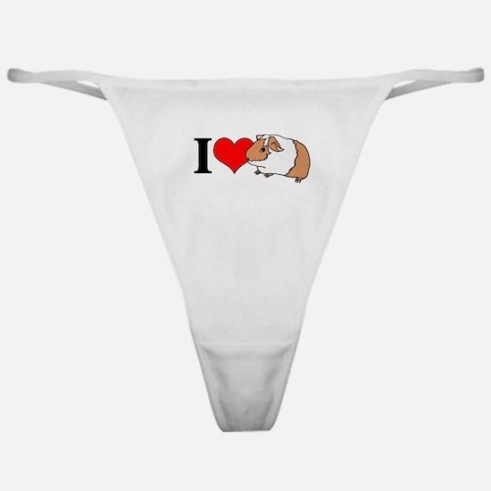 I (Heart) Guinea Pigs! Classic Thong