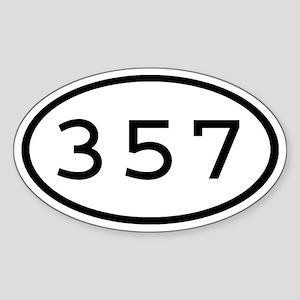 357 Oval Oval Sticker