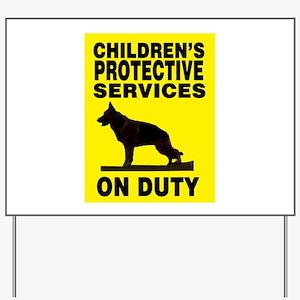 CPS German Shepherd Yard Sign