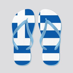 Flag of Greece Flip Flops