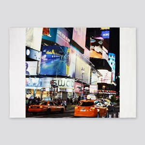 NYC at Night 5'x7'Area Rug