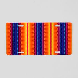 Aztec Geometric Tribal Patt Aluminum License Plate