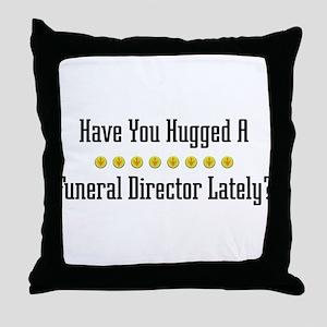 Hugged Funeral Director Throw Pillow