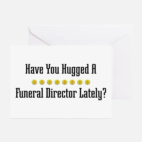 Hugged Funeral Director Greeting Cards (Package of