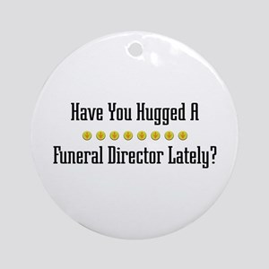 Hugged Funeral Director Ornament (Round)