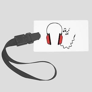 Musical Headphones Luggage Tag