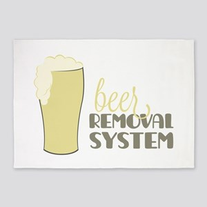 Beer Removal System 5'x7'Area Rug
