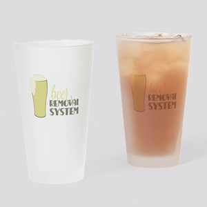 Beer Removal System Drinking Glass