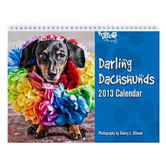Darling Dachshunds 2013 Wall Calendar