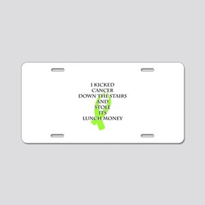 Cancer Bully (Lime Green Ribbon) Aluminum License