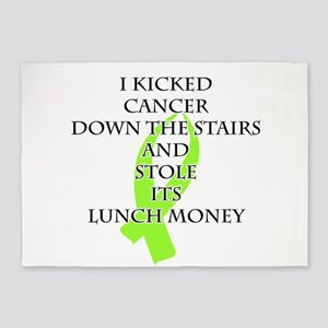 Cancer Bully (Lime Green Ribbon) 5'x7'Area Rug
