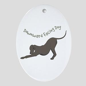 Downward Dog Ornament (Oval)