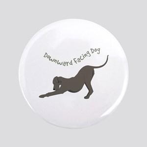 "Downward Dog 3.5"" Button"