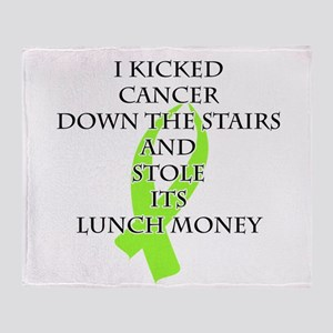Cancer Bully (Lime Green Ribbon) Throw Blanket