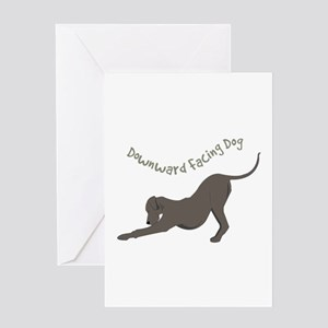 Downward Dog Greeting Cards