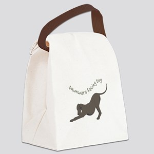 Downward Dog Canvas Lunch Bag