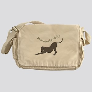 Downward Dog Messenger Bag