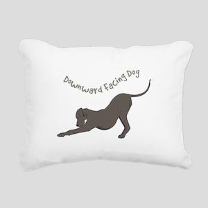 Downward Dog Rectangular Canvas Pillow