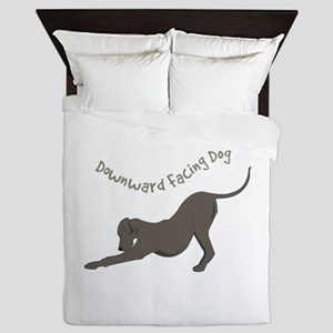 Downward Dog Queen Duvet