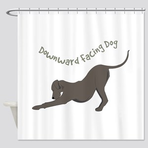 Downward Dog Shower Curtain